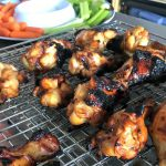 grilled wings on rack