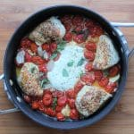 goat cheese chicken in skillet