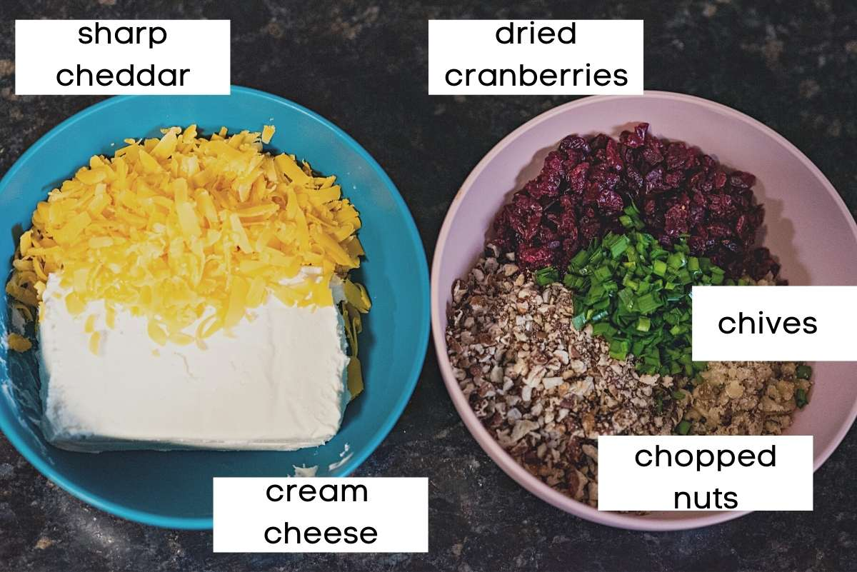 ingredients in two bowls
